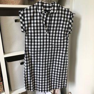 JCrew plaid dress xxs